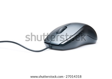 New modern mouse isolated on white background. - stock photo