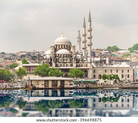 New Mosque, Eminonu, Istanbul, Turkey - stock photo