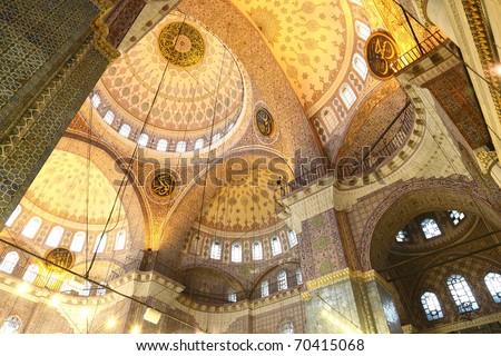 New Mosque interior, Istanbul - stock photo