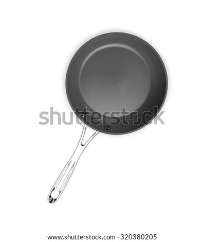 New non-stick frying pan - stock photo
