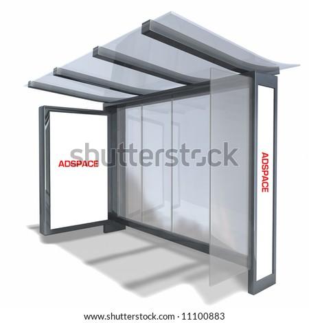 New NYC Bus Stop - stock photo