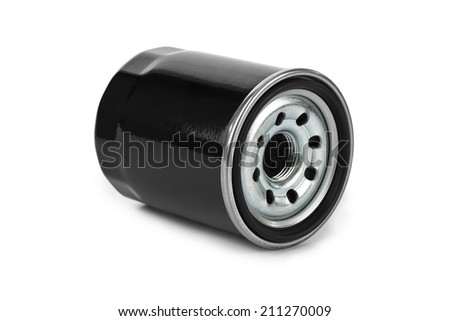 New oil filter car isolated on white background - stock photo