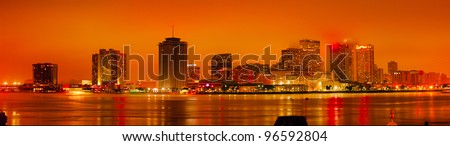 New Orleans just after sunset - stock photo