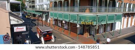 NEW ORLEANS, LA - CIRCA 1998: Bourbon Street, French Quarter, New Orleans, Louisiana - stock photo