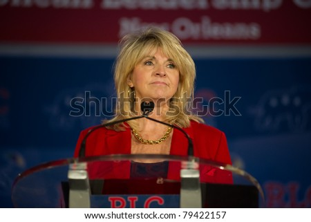 NEW ORLEANS, LA - JUNE 17: Sharon Day, Republican National Committee co-chair, addresses the Republican Leadership Conference on June 17, 2011 at the Hilton Riverside New Orleans in New Orleans, LA. - stock photo