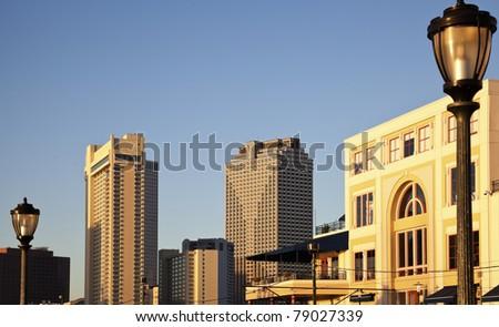 New Orleans, Louisiana - morning panorama of the city - stock photo
