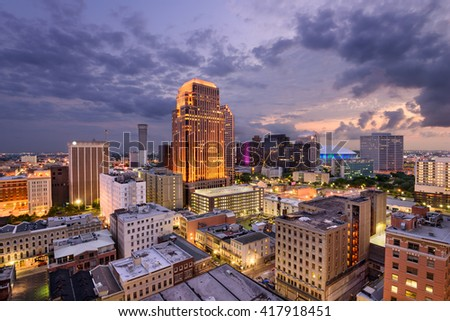 New Orleans, Louisiana, USA Central Business District skyline. - stock photo