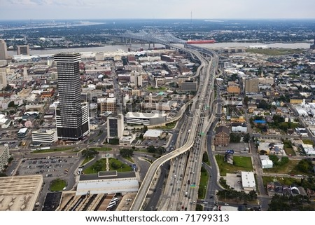 New Orleans Route 90 - stock photo