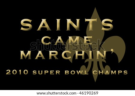 New Orleans Saints Champs - stock photo