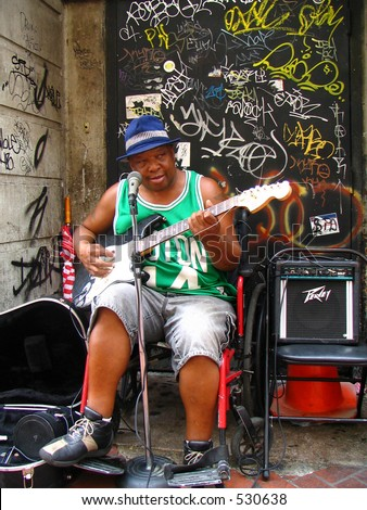 New Orleans Street Performer - stock photo