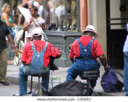 New Orleans Street Performers - stock photo