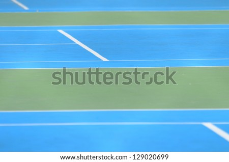 New outdoor the tennis court - stock photo