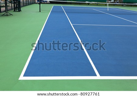 New outdoor the tennis courts - stock photo