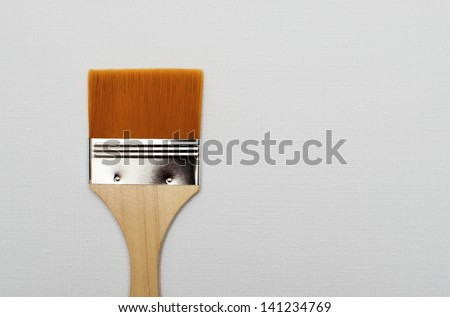 New paint brush isolated on white