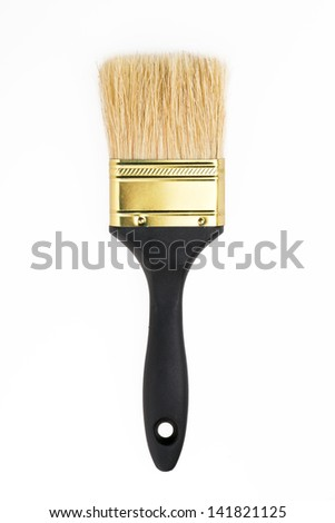 New paintbrush isolated on white background