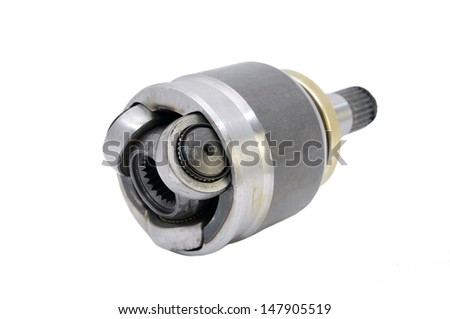 new parts to the car on a white background - stock photo