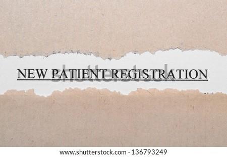 New patient registration - stock photo