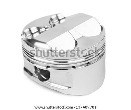 new piston spare part isolated on white