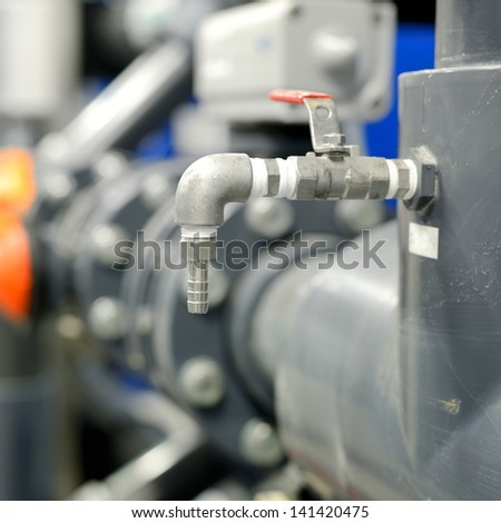 new plastic pipes in industrial boiler room