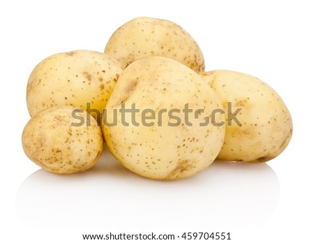 New potato isolated on white background - stock photo