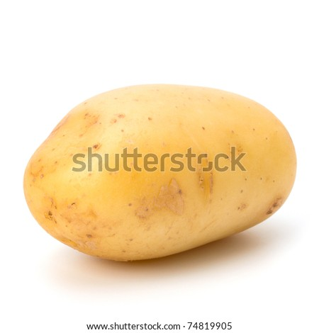 New potato isolated on white background close up - stock photo