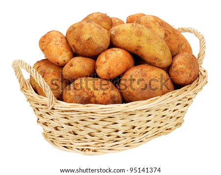 New potatoes in the basket