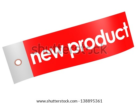 New product label - stock photo