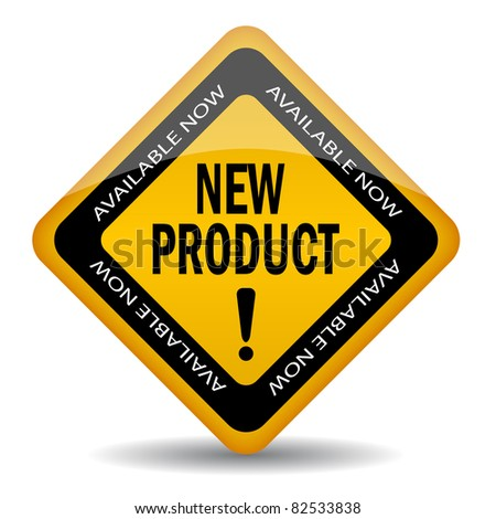 New product sign - stock photo