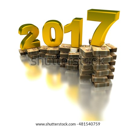 New Profitable Year 2017 3D rendering