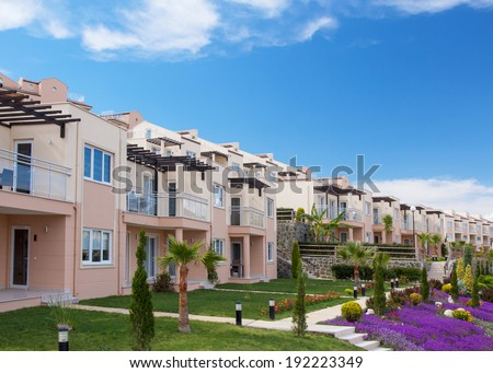 New real estate development - stock photo
