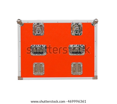 New red toolbox isolated on white background