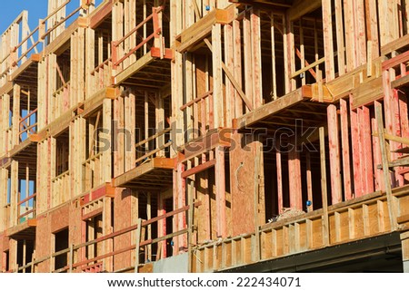 New residential complex is under construction. - stock photo