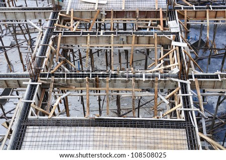 New residential construction - stock photo