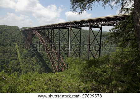 New River Bridge in West Virginia, USA. - stock photo
