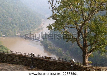 New River Overlook - stock photo