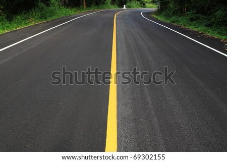 new road - stock photo