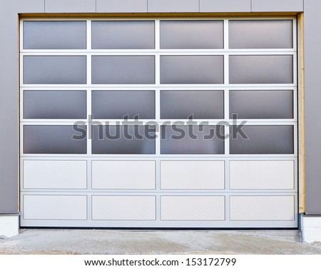New roller door - stock photo