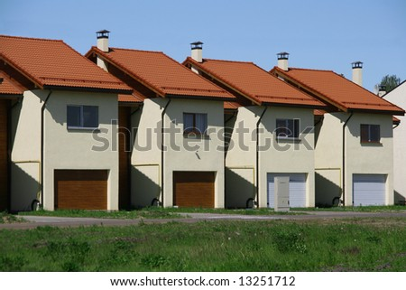 New row houses, real estate - stock photo