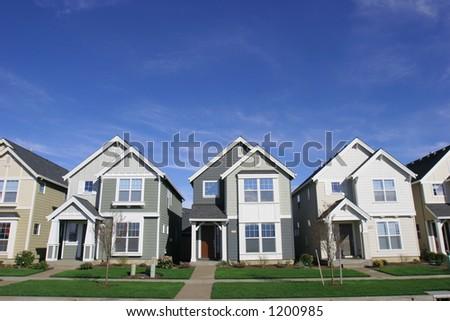 New Row of Houses - stock photo