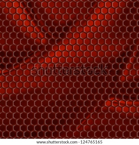 new royalty free image with fabric and honeycomb can use like textured background - stock photo