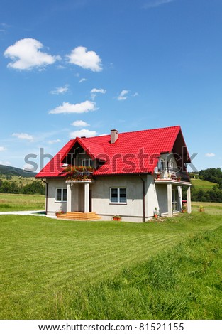 New rural house - stock photo