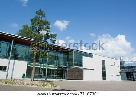 New school building - stock photo