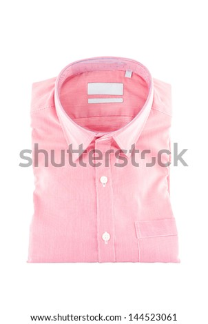 New shirt - business shirt with a line pattern - formal shirt - Shirt isolated on white background - new men's shirt