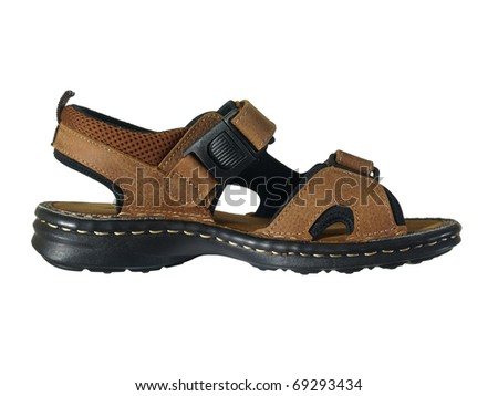 New shoes isolated on white background. - stock photo