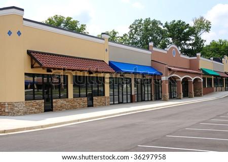 New Shopping Center - stock photo