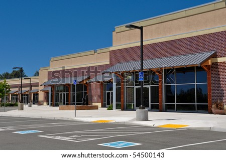 New Shopping Center - stock photo