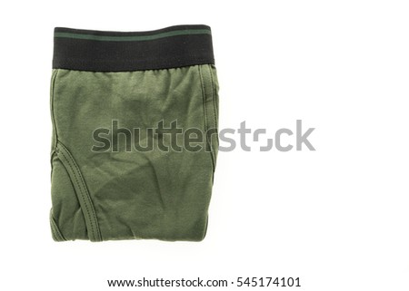 New Short underwear and Pants for men isolated on white background