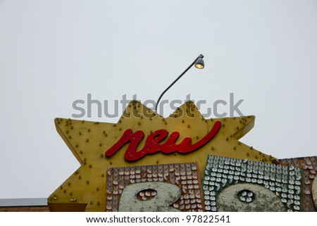 New Sign - stock photo
