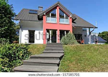 New single family home - stock photo