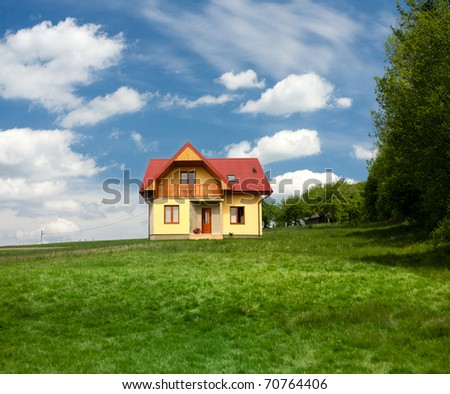 New single family house - stock photo